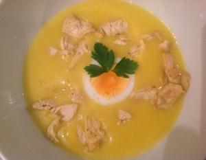 Paas soep met ei & kip