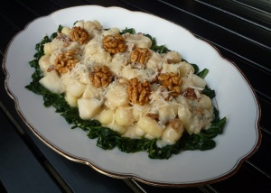 Gnocchi Gorgonzola, Peer en Walnoot