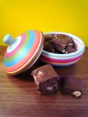 Chocoladefudge met noten