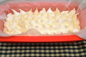 Semifreddo met merengue en frambozen